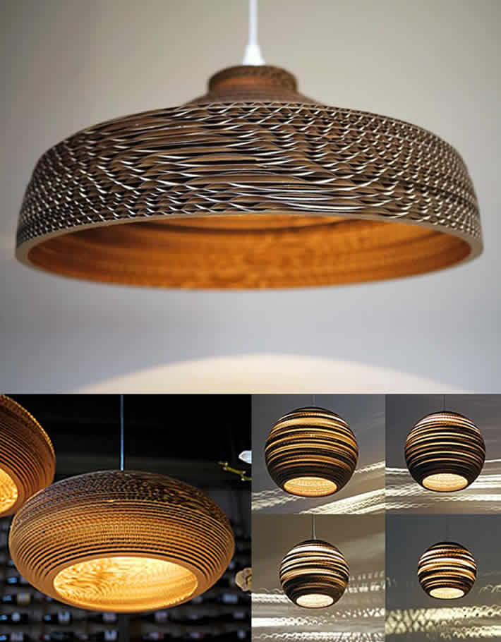 Scraplights: cardboard lamps by gray pants – upcycleDZINE