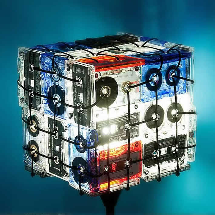 Cassette Tapes Lamp by OOO My Design – upcycleDZINE