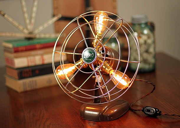 Vintage Fan Lamp by Dan Cordero – upcycleDZINE