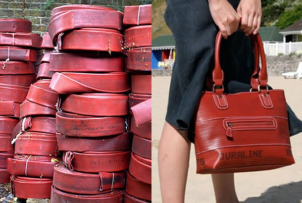 EBags Made Out Of Upcycled Fire Hose by Elvis & Kresse – upcycleDZINElvisKresse_ToteBag_02
