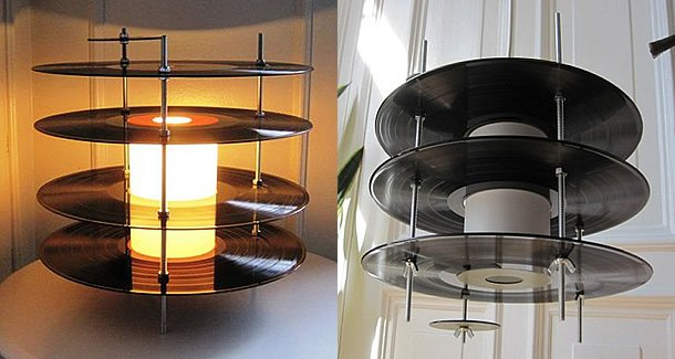 Vinyl Records Lamp by Genanvendt – upcycleDZINE