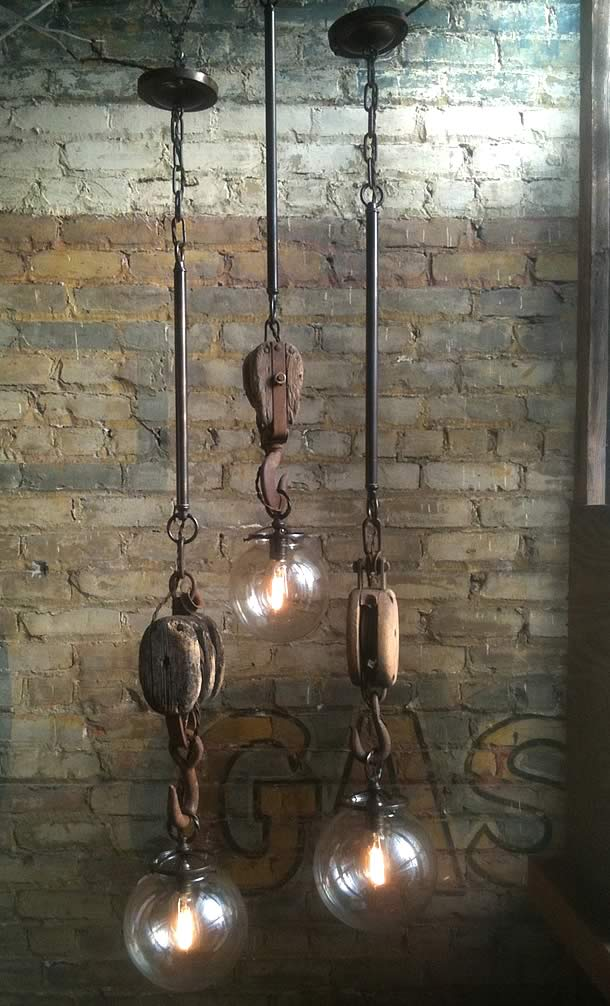 Wench Hooks pendants by Omega Lighting Design – upcycleDZINE