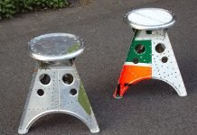 Aviation Stool: aircraft turns into design stool by AERO-1946 – upcycleDZINE