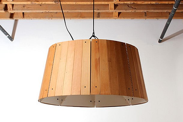 The Refold Lamp: Reclaimed floorboards pendant by STRAND design – upcycleDZINE