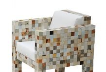Waste Waste: furniture made from wasted wood waste by Piet Hein Eek on upcycleDZINE