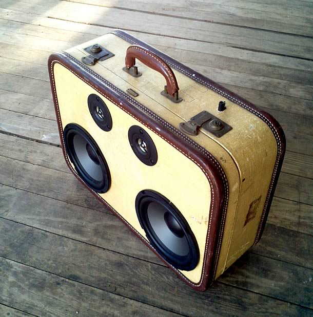 The BoomCase: The Original Vintage Suitcase Boombox by Mr. SiMo – upcycleDZINE