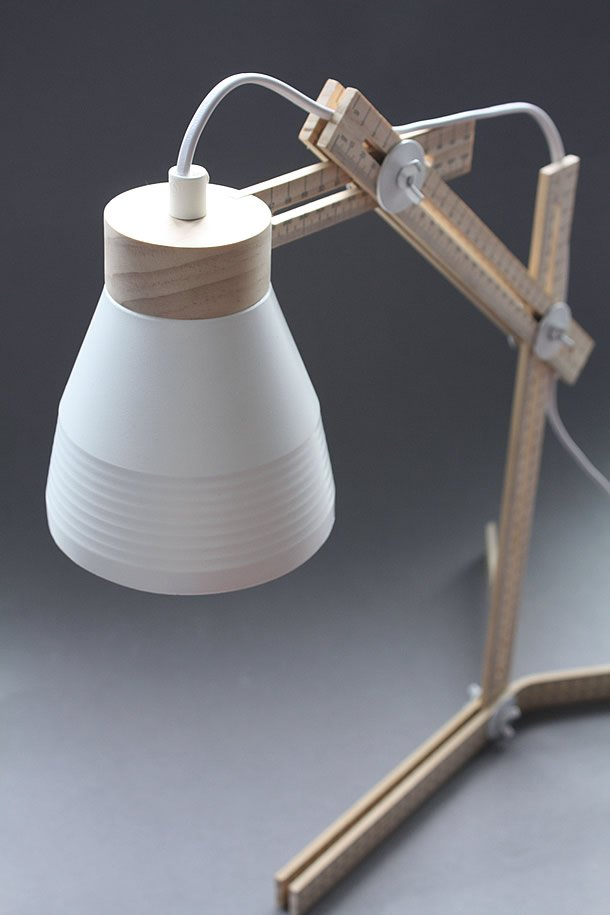 Made to measure: Table lamp made from rulers by Nikolai Sorensen – upcycleDZINE
