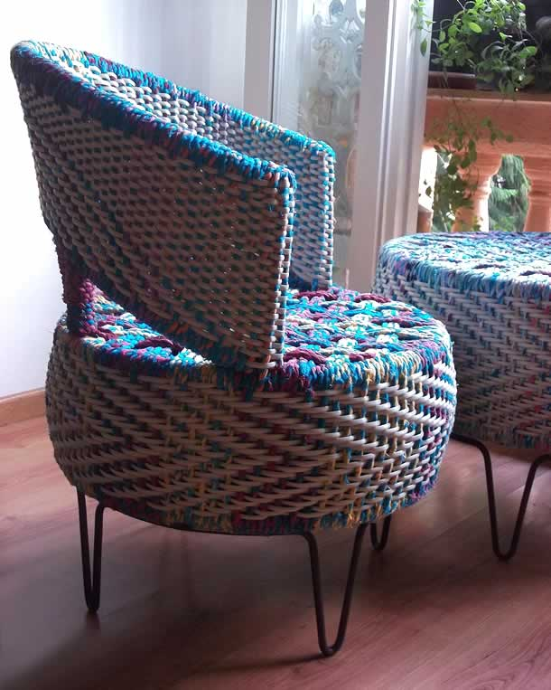 Colorful tyre furniture by The Retirement Plan – upcycleDZINE