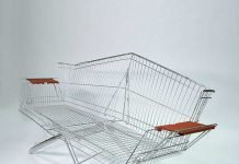 Etienne Reijnders designed a collection by upcycling a shopping carts into original furniture.