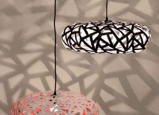 131-6: lampshades out of advertisement posters by Otra – upcycleDZINE
