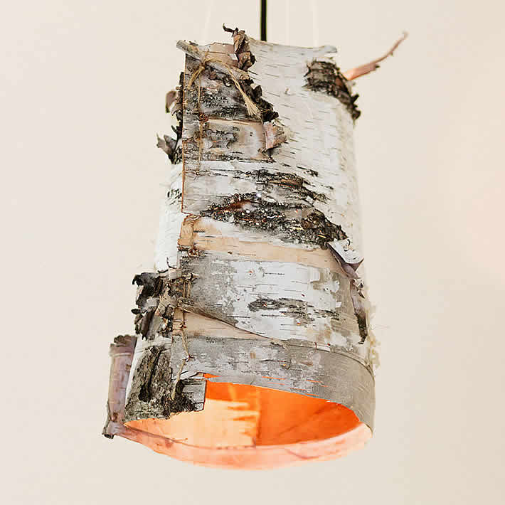 DIY: Birch Bark Lamps by Ruffled – upcycleDZINE