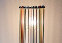 Welcome Mamy: knitting needles lamp by Martin Lévêque – upcycleDZINE