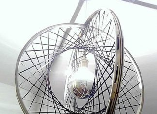 DIY: upcycle bicycle rims into Boole pendant light by Relevé Design – upcycleDZINE