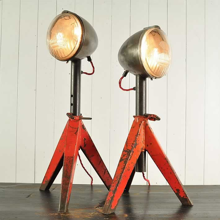 Upcycled Jack Stand Lamps by Original House – upcycleDZINE