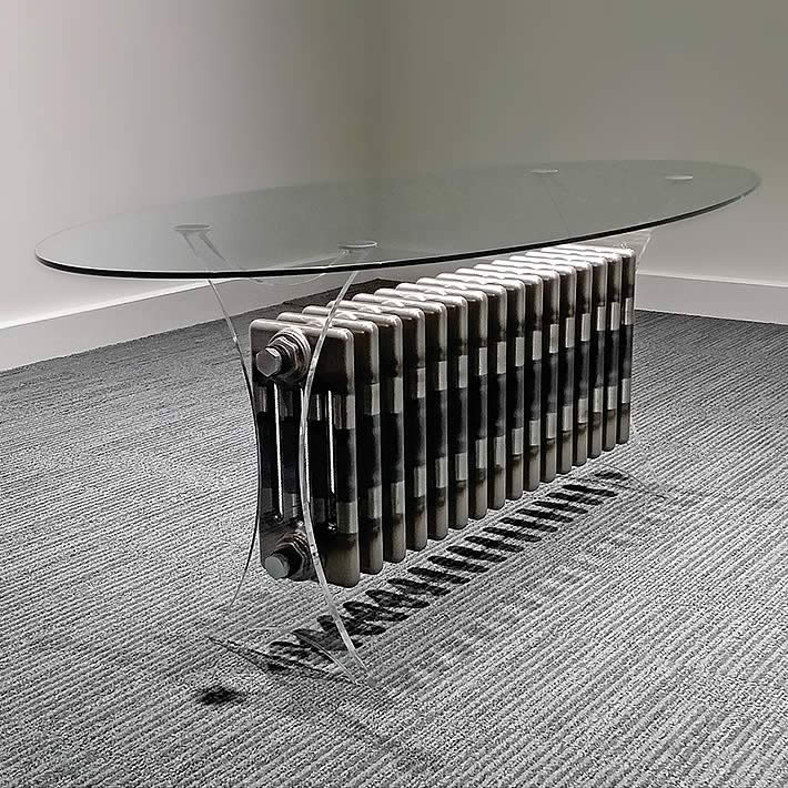 Zehnder Floating Radiator Table by Neet Bandana Design Company – upcycleDZINE