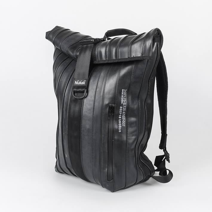 ARCE: Rolltop Backpack made out of Inner Tube by Nukak – upcycleDZINE