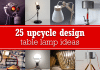 25 upcycle design table lamp ideas – upcycleDZINE