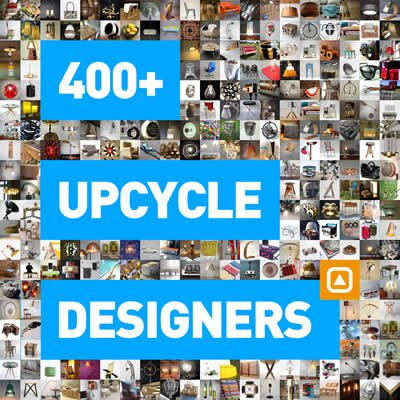 400+ upcycle designers showing sustainable ideas | upcycleDZINE ad