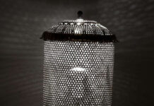Colander cylinder lamp featured image by JT Narris | upcycleDZINE